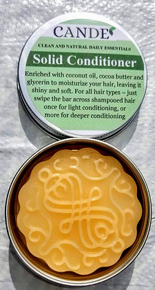 Solid Hair Conditioner - No Plastic Container!