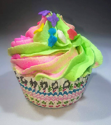 Bath Bomb Cupcake with Bubble Frosting