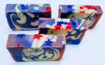 Red White and Blue Soap