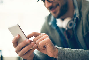 Person using a mobile phone app