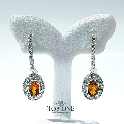 Natural Yellow Tourmaline 925 Sterling Silver Earring