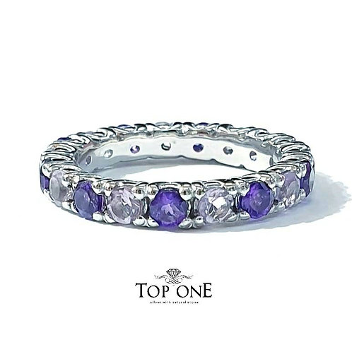 Ferris Natural Amethyst 925 Sterling Silver Ring