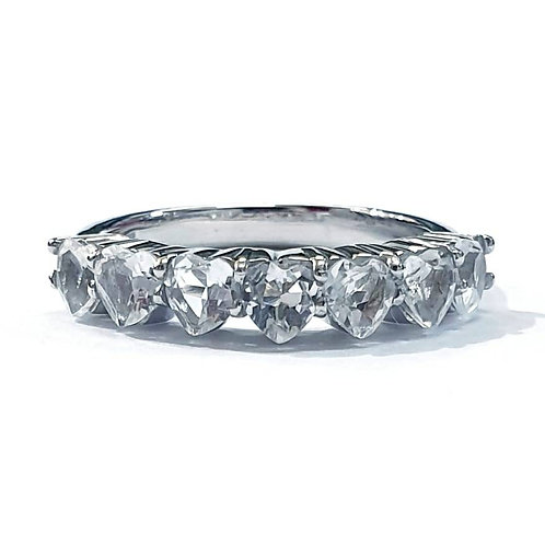 Natural White Topaz 925 Sterling Silver Ring