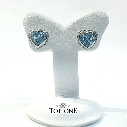Cura Natural Blue Topaz 925 Sterling Silver Earring