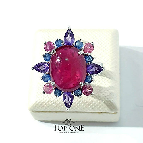 Natural Ruby 925 Sterling Silver Ring