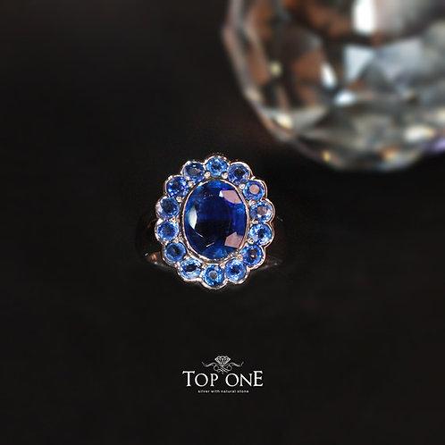 Natural Kyanite 925 Sterling Silver Ring