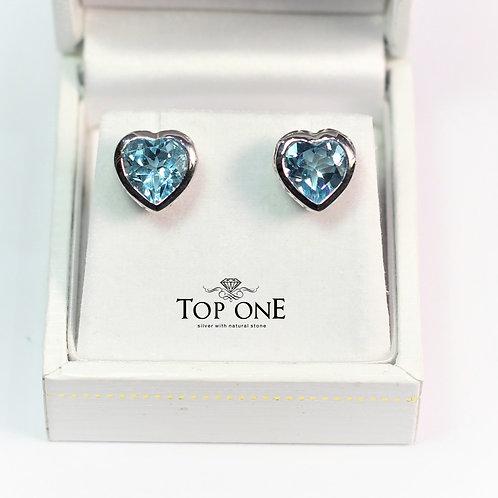 Amore Blue Topaz 925 Sterling Silver Earring