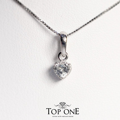 Carina Natural White Topaz 925 Sterling Silver Pendent