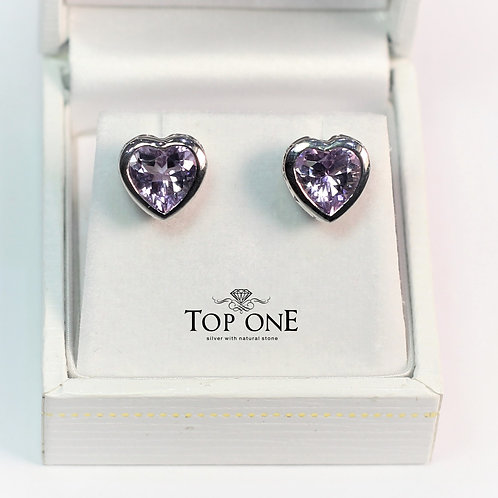 Amore Amethyst  925 Sterling Silver Earring