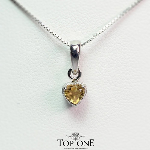 Carina Natural Citrine 925 Sterling Silver Pendent