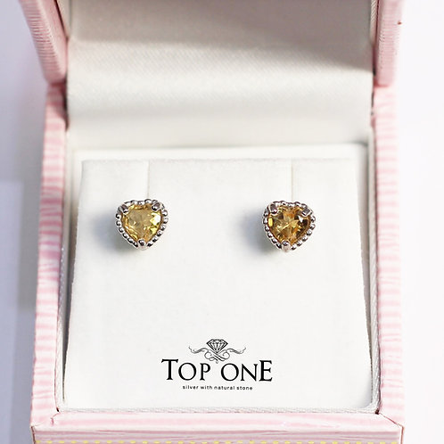 Dolce Natural Citrine 925 Sterling Silver Earring