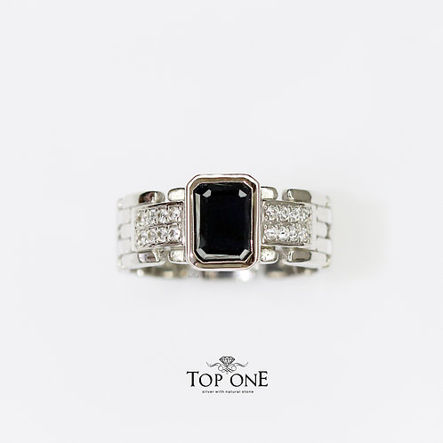 Natural Sapphire 925 Sterling Silver Ring