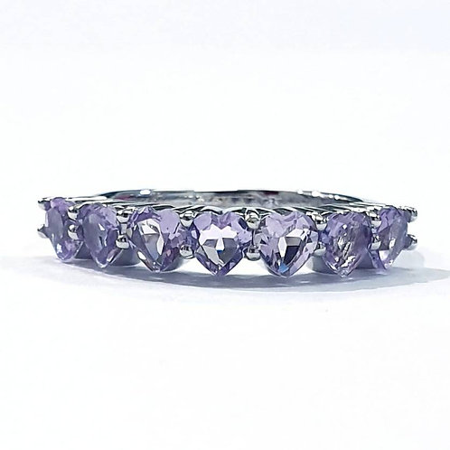 Natural Amethyst 925 Sterling Silver Ring