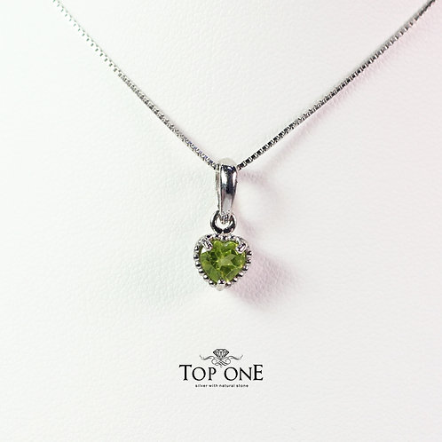 Dolce Natural Peridot 925 Sterling Silver Pendant