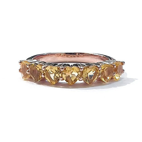 Natural Citrine 925 Sterling Silver Ring