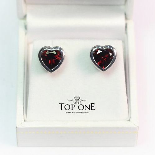 Amore Garnet  925 Sterling Silver Earring