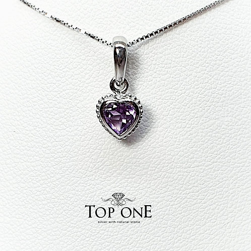 Cura Natural Amethyst 925 Sterling Silver Pendent