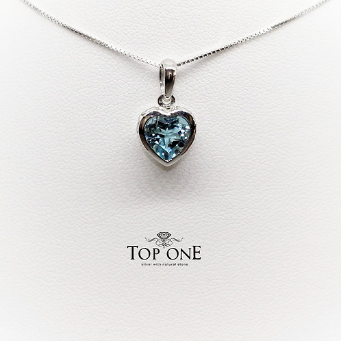 Amore BlueTopaz 925 Sterling Silver Pendant