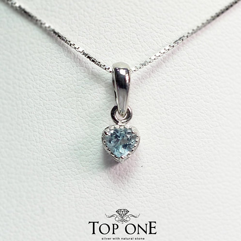 Carina Natural Blue Topaz  925 Sterling Silver Pendent