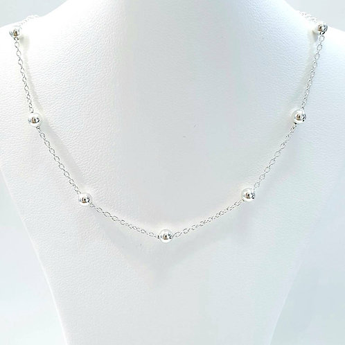 925 Sterling Silver Italian Cable Bead 4mm Chain