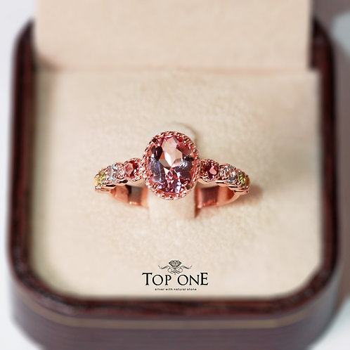 Natural Morganite 925 Sterling Silver Ring
