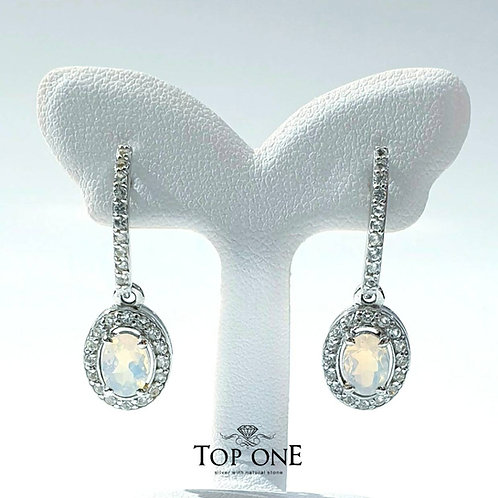 Natural Ethiopian Opal 925 Sterling Silver Earring