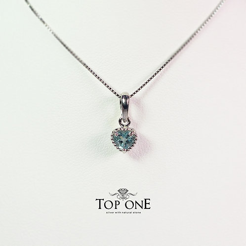 Dolce Natural Blue Topaz 925 Sterling Silver Pendant