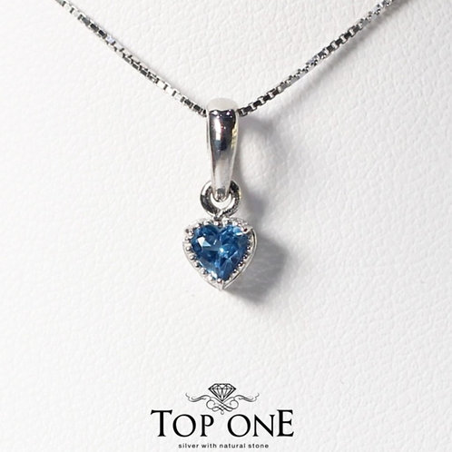 Carina Natural London Blue Topaz  925 Sterling Silver Pendent