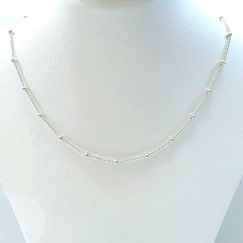 925 Sterling Silver Italian Curb Bead 2mm Chain