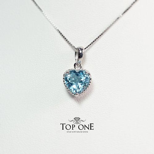 Oro BlueTopaz 925 Sterling Silver Pendant