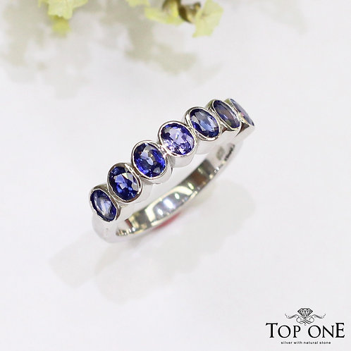 Radiant Natural Ceylon Blue Sapphire 925 Sterling Silver Ring