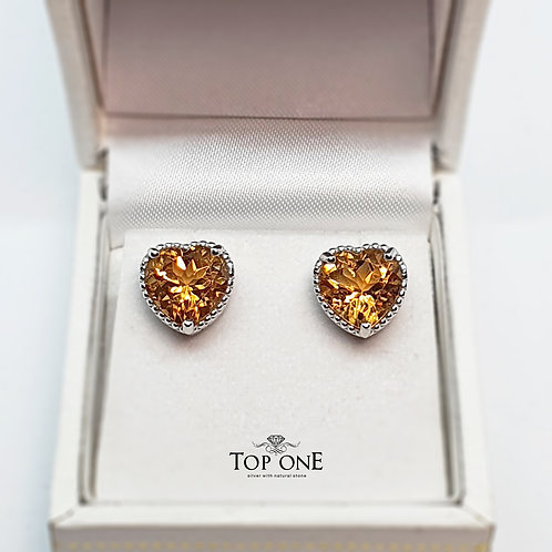 Oro Natural Citrine 925 Sterling Silver Earring