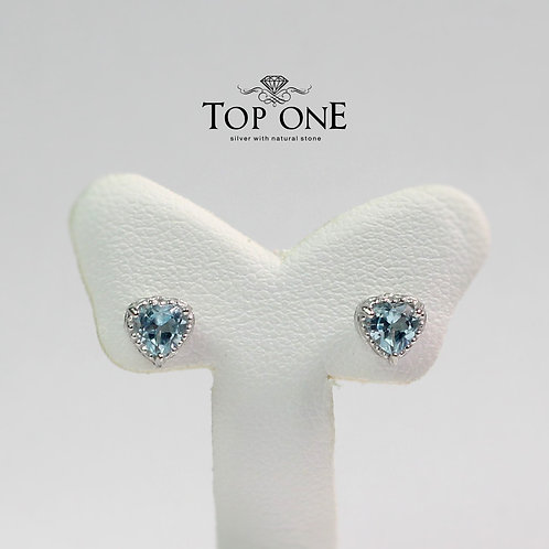 Carina Natural Blue Topaz 925 Sterling Silver Earring