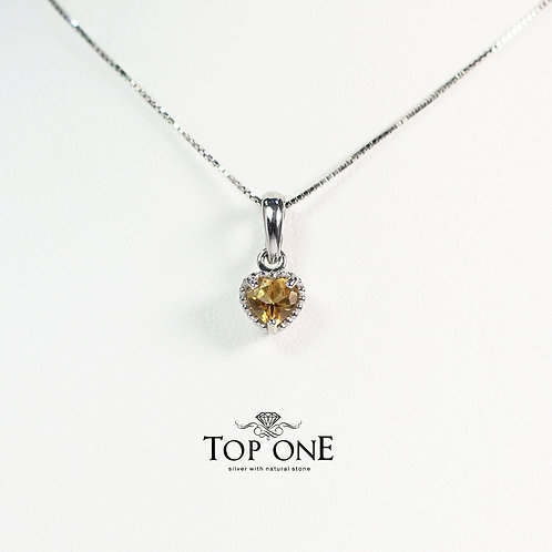 Dolce Natural Citrine 925 Sterling Silver Pendant
