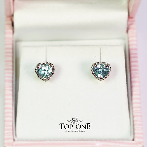 Dolce Natural Blue Topaz 925 Sterling Silver Earring