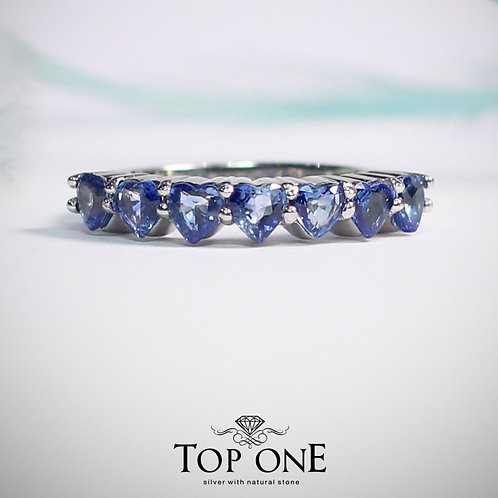 Natural Ceylon Blue Sapphire 925 Sterling Silver Ring