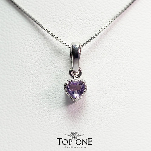 Carina Natural Amethyst 925 Sterling Silver Pendent