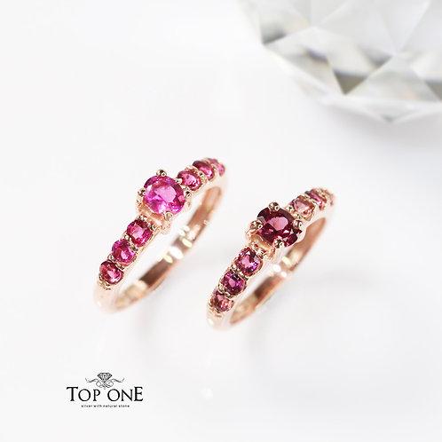 Natural Pink Tourmaline 925 Sterling Silver Ring
