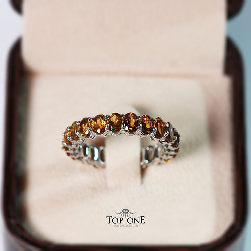 Natural Yellow Tourmaline 925 Sterling Silver Ring