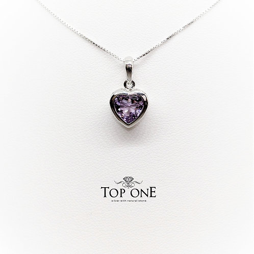 Amore Amethyst 925 Sterling Silver Pendant