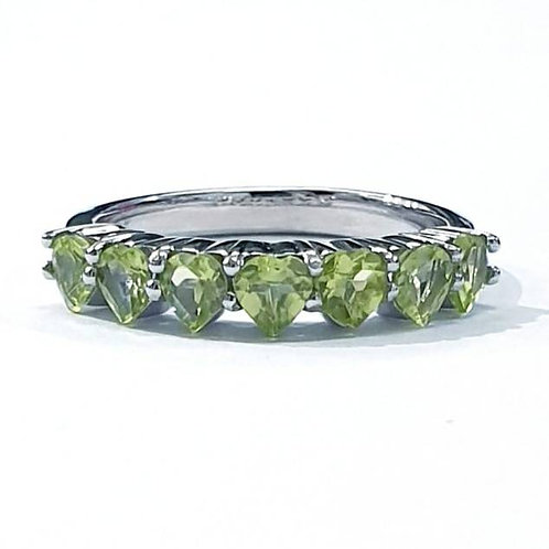 Natural Peridot 925 Sterling Silver Ring