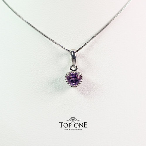 Dolce Natural Amethyst 925 Sterling Silver Pendant
