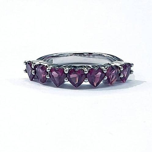 Natural Rhodolite 925 Sterling Silver Ring