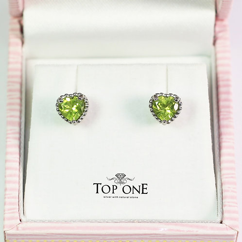 Dolce Natural Peridot 925 Sterling Silver Earring