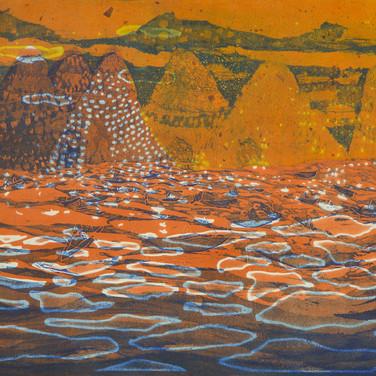 Shimmering Water ( Orange), 2016
