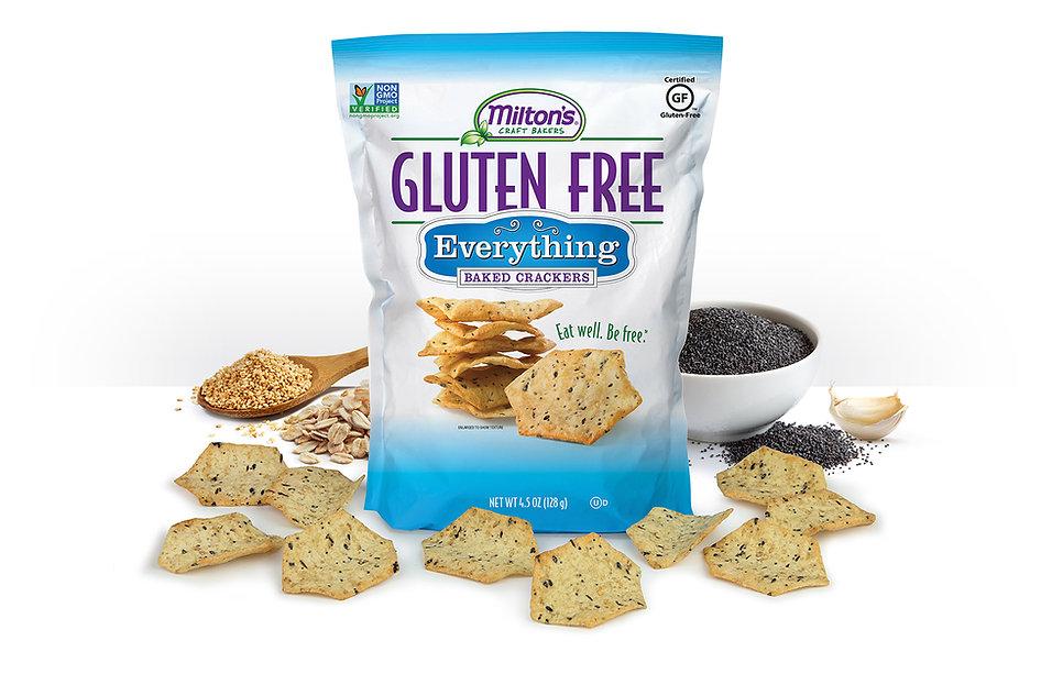 Milton's Gluten Free Everything Crackers, NON-GMO