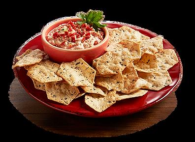 Milton's Gluten Free Multi-Grain Cracker platter paired with sun-dried tomato pesto dip