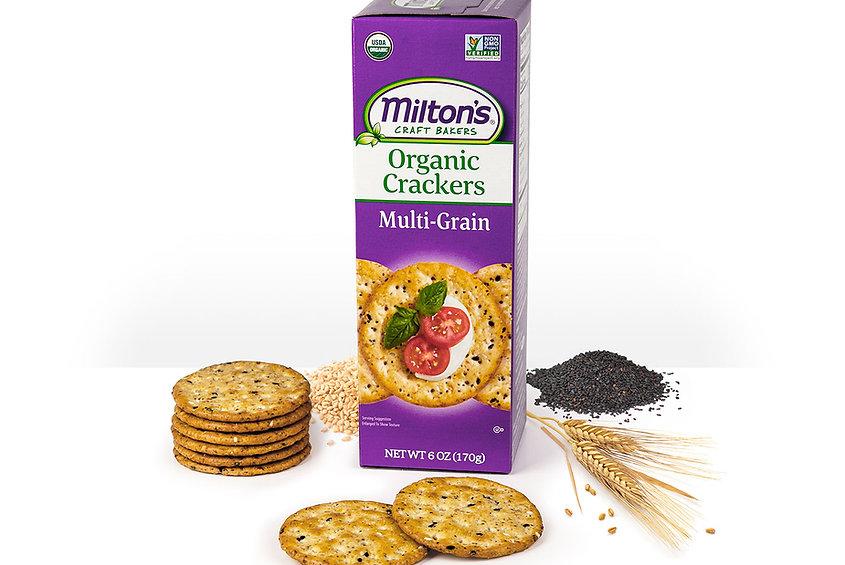 Milton's Organic Multi-Grain Crackers, NON GMO