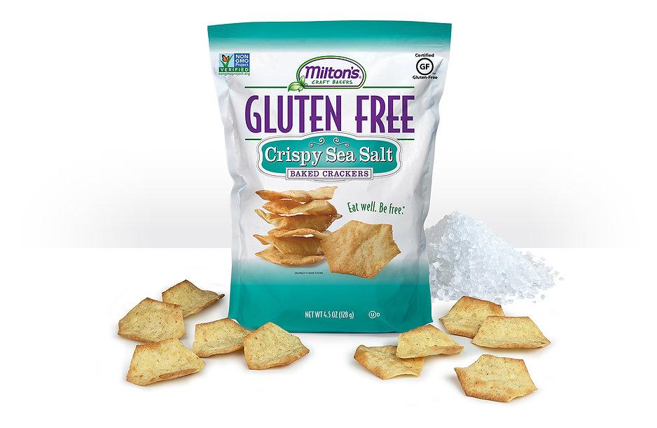 Milton's Gluten Free Crispy Sea Salt Crackers, NON-GMO