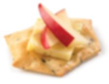 Milton's Gluten Free Multi-Grain Crackers with Gouda and sliced apples